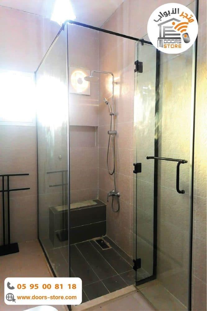 كبينة استحمام اسود