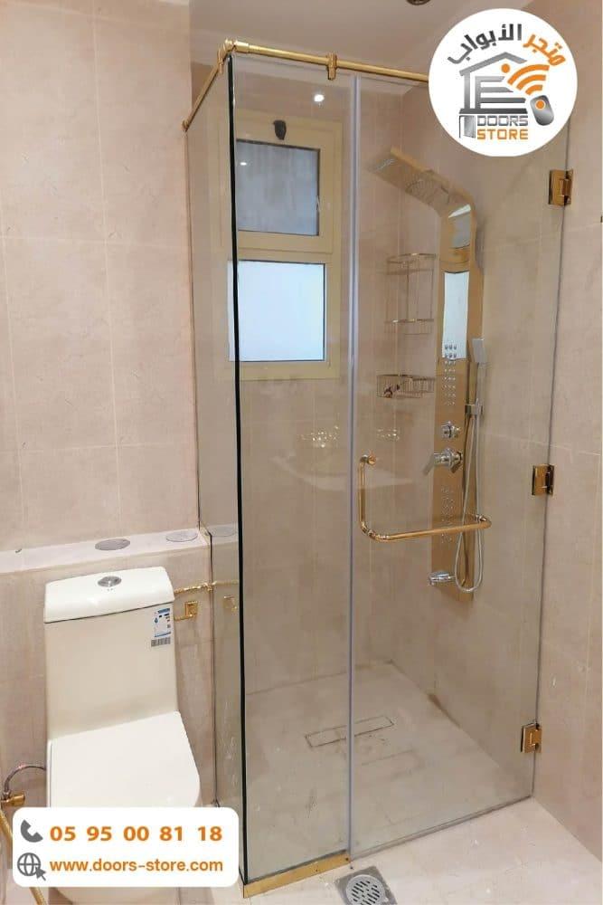كبينة استحمام ذهبي