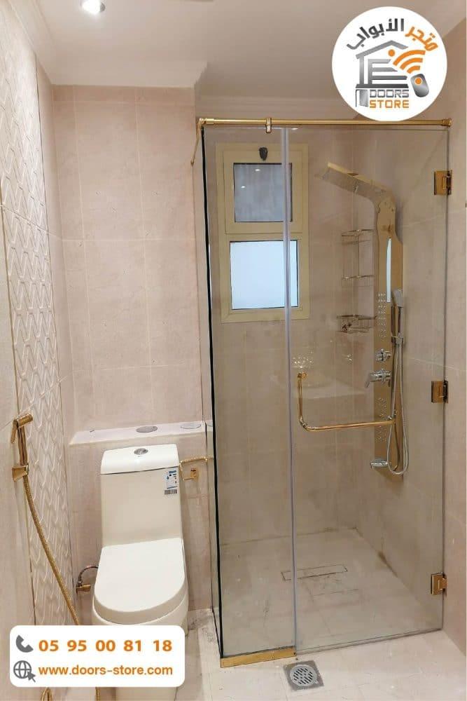 كبينة استحمام ذهبي كورنر