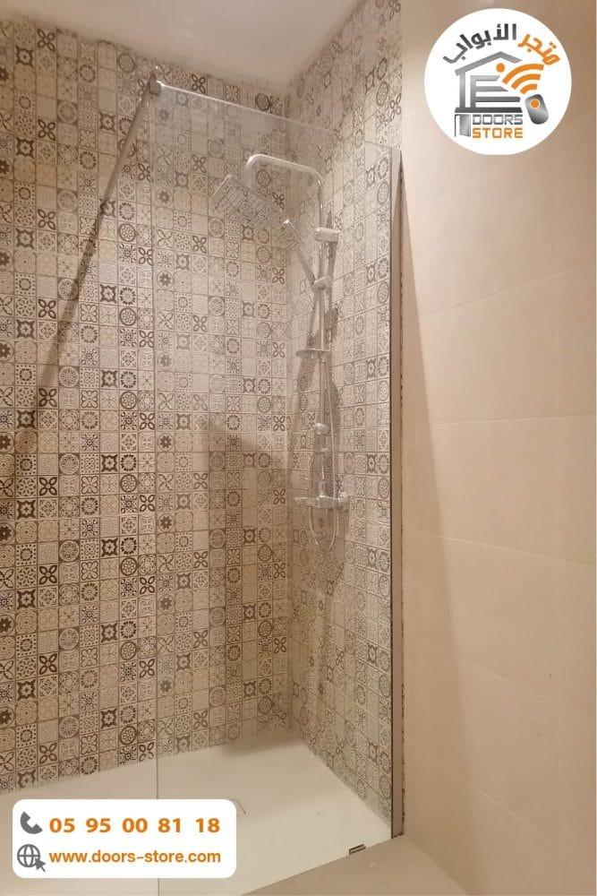 حاجز زجاجي للحمام شفاف